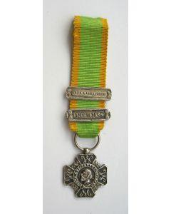 Kruis voor Krijgsverrigtingen, miniatuur draagmedaille met twee gespen Atjeh