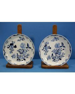 Stel Chinese porseleinen roomborden, QianLong periode, 18e eeuw