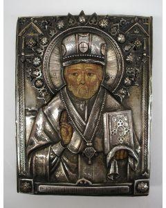 Russische icoon, de heilige Nicolaas, 1893