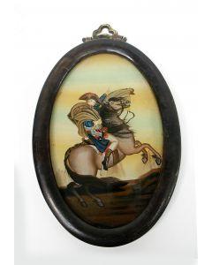 Achterglasschildering, Napoleon, 19e eeuw