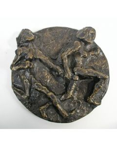 Jits Bakker, bronzen plaquette, estafetteloopsters