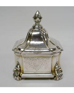 Zilveren tabakspot, Matthijs Crayenschot, Amsterdam 1757