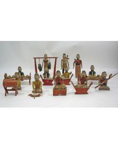 Beschilderd houten gamelan orkest, Java, koloniale periode