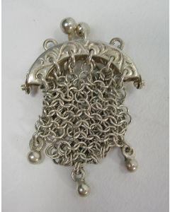 Miniatuur zilveren beursje, ca. 1900