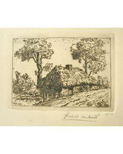 Hendrik de Laat, 'Brabants boerderijtje', ets