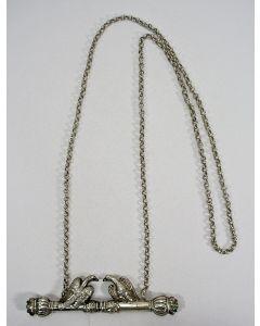 Zilveren breinaaldhouder, 19e eeuw