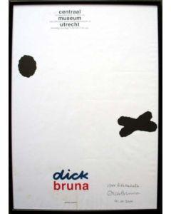 Dick Bruna, gesigneerde affiche, 2000