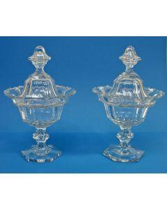 Stel kristallen gembercoupes, 19e eeuw
