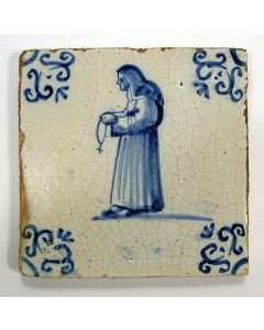 Figuurtegel, non, 17e eeuw