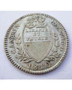Zwitserland, Canton Vaud, 5 Batzen 1810