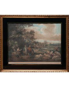 George Morland, 'The Shepherds' mezzotint, 1806