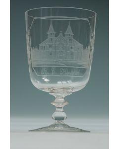 Gegraveerd glas, het R.K. Kerkhof van Rotterdam, 19e eeuw